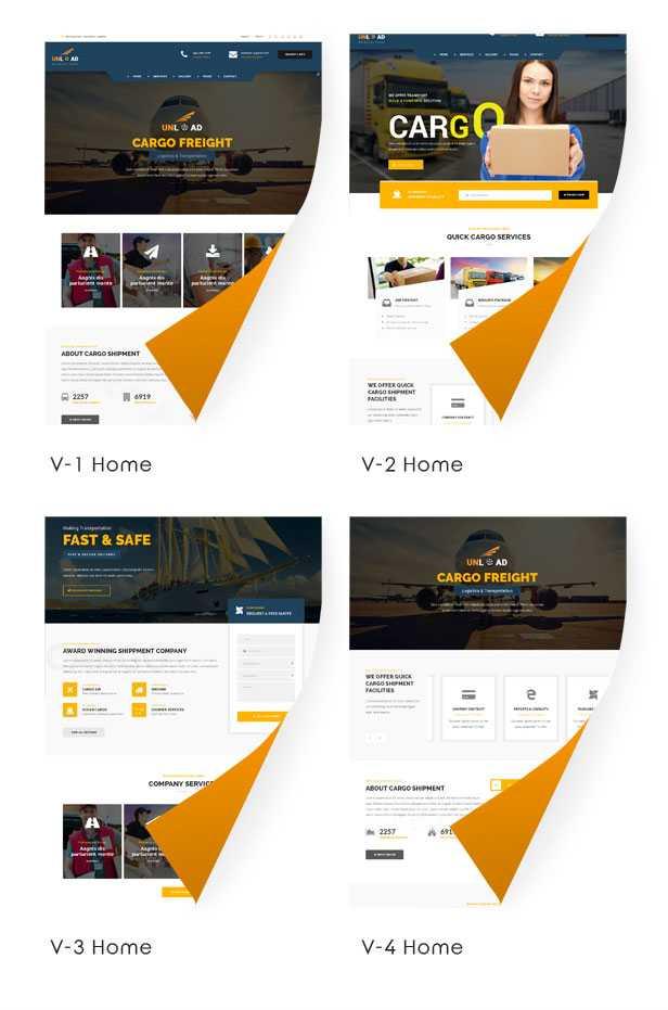 قالب شرکتی آنلود | Unload WordPress Theme